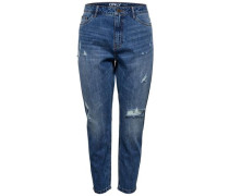 Boyfriendjeans Tonni Destroyed blue denim