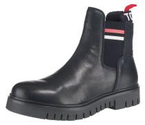 Chelsea Boots weiß / dunkelblau / rot