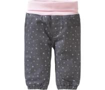 Baby Softbundhose für Mädchen gefüttert grau / rosa / naturweiß