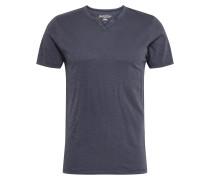 T-Shirt 'split' blau