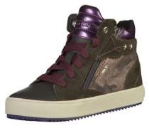 Sneaker schlammfarben / dunkelgrau / neonlila