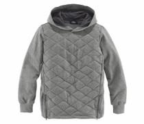 Kapuzensweatshirt grau