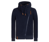 Male Zipped Jacket 'Gnadenlos durchgerattert' blau