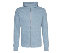 'Zip-Sweater' blau