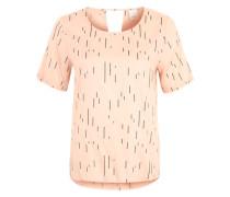 Shirt mit Allover-Print rosa / schwarz