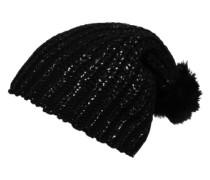 Pudelmütze schwarz / silber