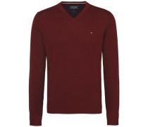 Pullover 'plaited CTN Silk V-Nk CF' burgunder