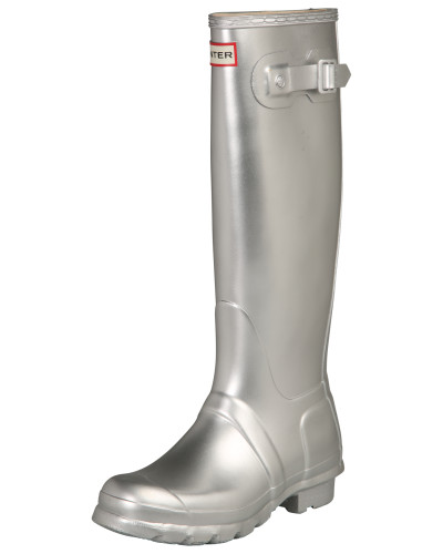 Hunter Damen Gummistiefel 'Original Tall' silber