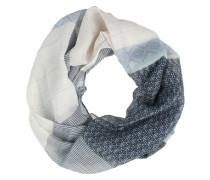 Loop Schal mit Mustermix 'patchwork' rauchblau
