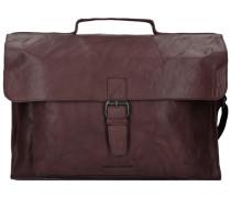 Bronco Aktentasche Leder 41 cm Laptopfach braun