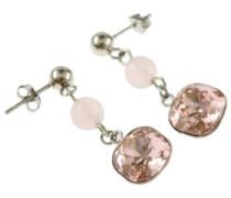 Paar Ohrhänger rosa / silber