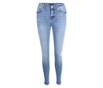 Skinny Jeans 'Pcfive Delly Cropped' hellblau