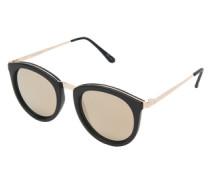 Sonnenbrille 'No Smirking' gold / schwarz