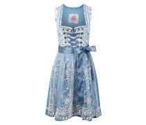 Kleid '013 Marinka' weiß / hellblau