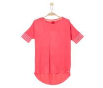Leichtes Shirt mit Blusen-Details hellrot / weiß