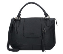 Adelia Handtasche Leder 30 cm schwarz