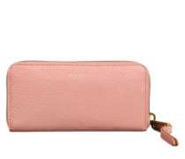 Geldbörse mit feiner Lederstruktur rosa