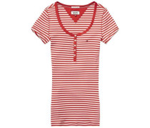 Shirt ´thdw Basic STP RIB Henley S/S 35´ hellrot / weiß