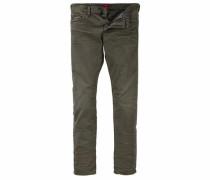 Slim-fit-Jeans oliv