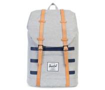 Rucksack mit Laptopfach 'Retreat Backpack 17 I' marine / grau