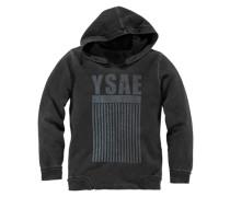 Kapuzensweatshirt für Jungen grau / schwarz