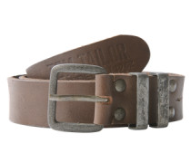 Gürtel 'leather belt' braun