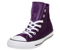 Sneaker 'Chuck Taylor All Star Hi' dunkellila / weiß