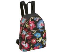 Rucksack mit Blumenstickerei blau / gelb / rot / schwarz