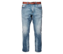 Scube Relaxed: Used-Jeans blue denim