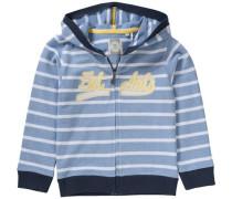 Sweatjacke für Jungen UV-Schutz 30+ hellblau / dunkelblau / gelb / weiß