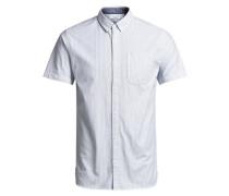 Klassisches Kurzarmhemd blau / weiß