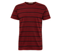 T-Shirt 'Anders Overdyed Stripes'