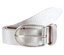 Gürtel im Metallic-Look silber