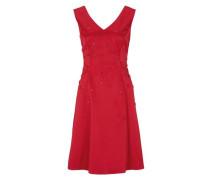 Satin-Kleid feuerrot