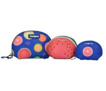 'nec Trio Fruits' Kosmetiktaschen 3tlg. mischfarben