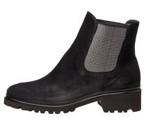 Schuhe mit gemustertem Einsatz