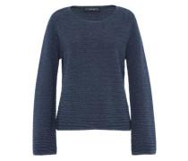 Lurex-Pullover mit weiten Ärmeln blau