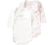 Doppelpack Bodys für Mädchen rosa / weiß