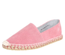 Espandrilles aus Rauleder pink