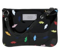 Flache Handtasche 'Lips' mischfarben / schwarz