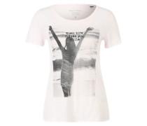 Print-Shirt weiß