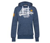 Sweatshirt 'High Flyers Hood' blaumeliert / gelb / weiß