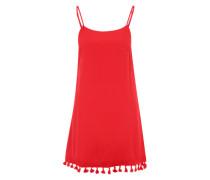Kleid mit Troddelsaum rot