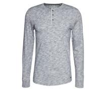 Henley-Shirt graumeliert