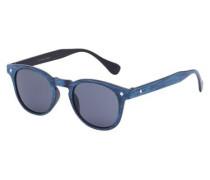 Klassische Sonnenbrille dunkelblau / silber