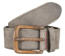 Ledergürtel in Vintage-Optik dunkelgrau