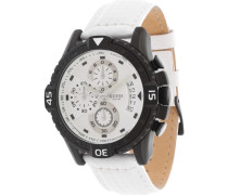 Armbanduhr Chronograph schwarz / weiß