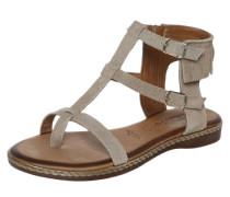 Sandale mit Fransendekor beige / braun