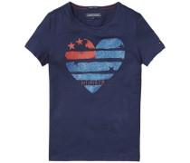 T-Shirt »Flag Heart CN Knit S/s« blau
