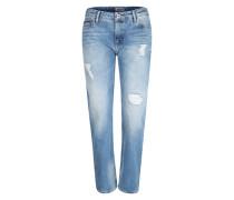 Jeans 'Straight Ankle' hellblau